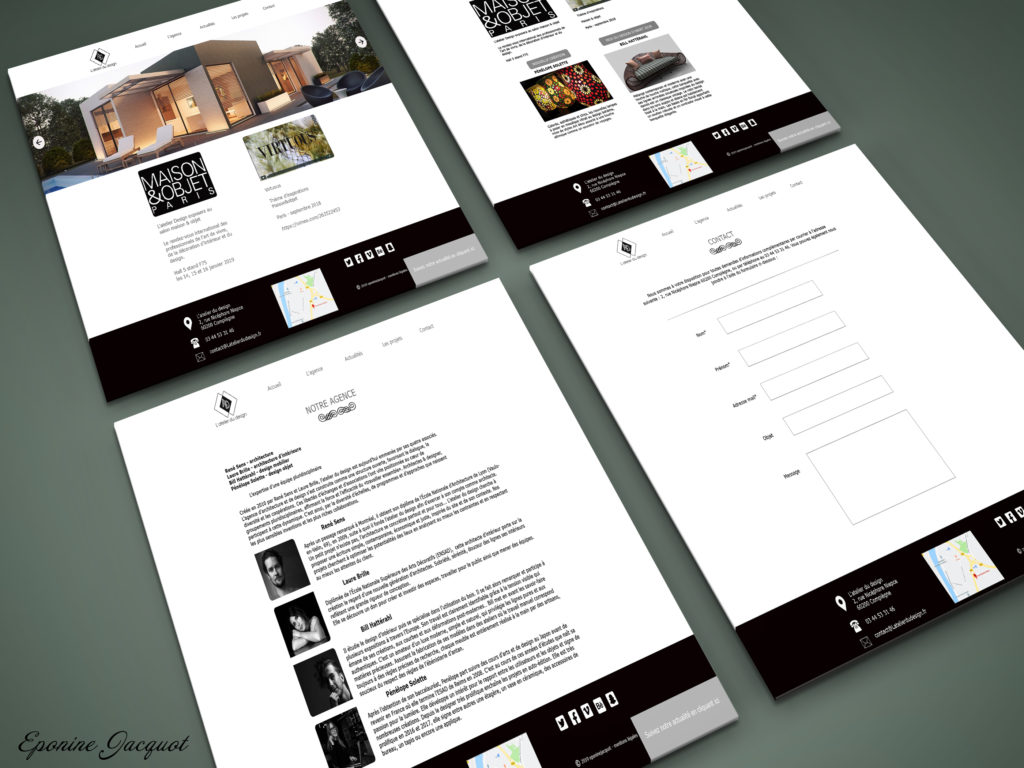 Maquettes web - Graphisme - Portfolio